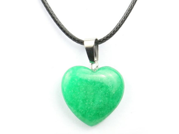 Heart Shape Malaysian Jade Crystal Necklace