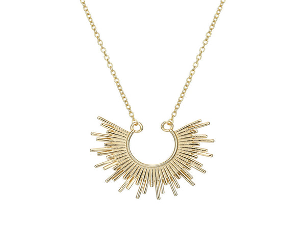 Gold Plated Sterling Silver Sunrise Necklace