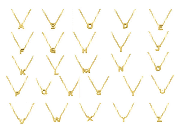 Alphabet Gold Plated Sterling Silver Necklace