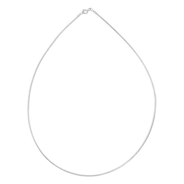 Flexible 1mm .925 Sterling Silver Wire Necklace - Essentially Silver Jewelry