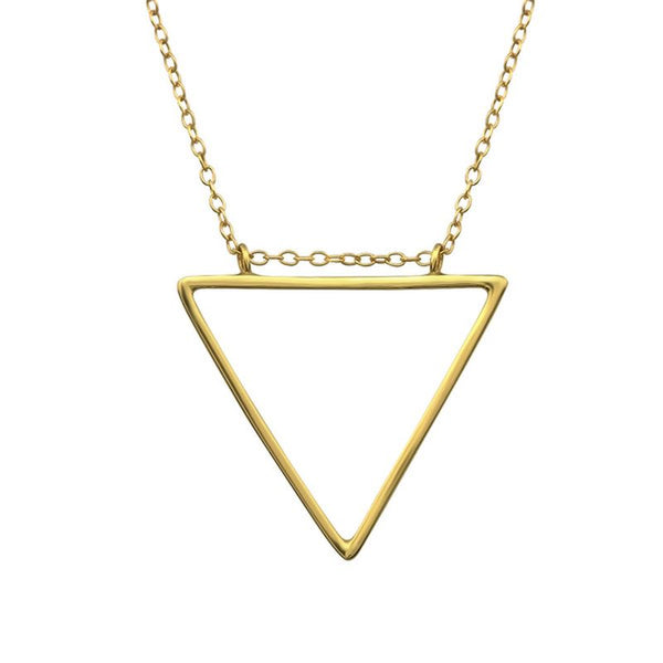 Gold Plated Triangle Sterling Silver Necklace