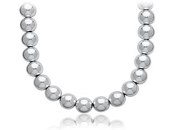 Ball Necklace 10mm/450mm Sterling Silver - Essentially Silver Jewelry