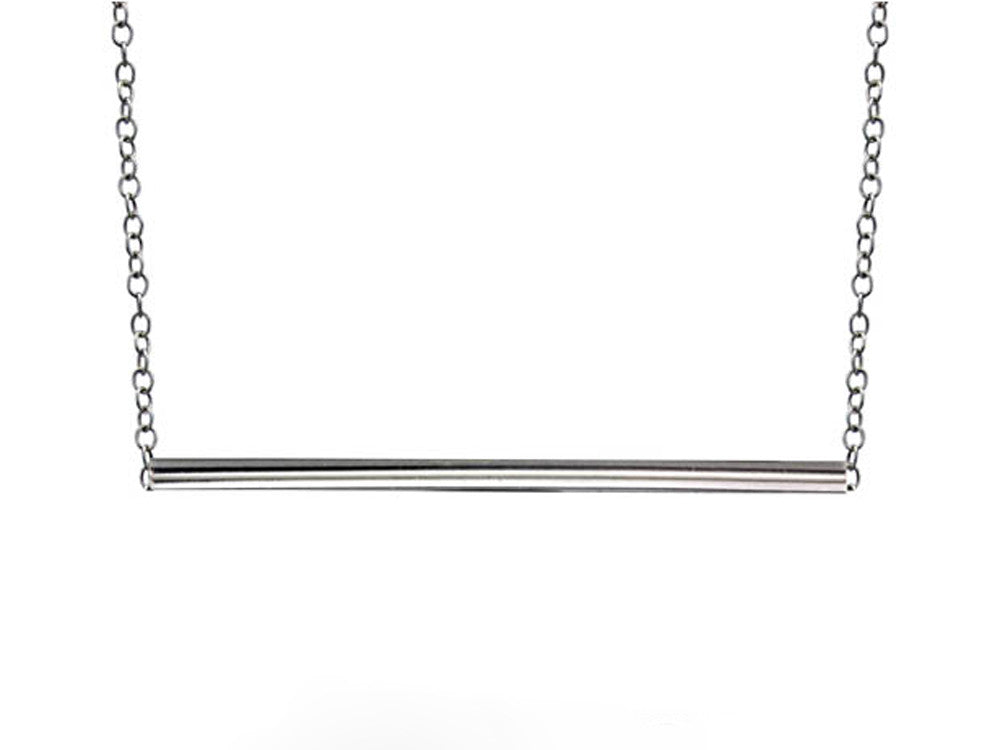 A Sterling Silver Bar Necklace - Essentially Silver Jewelry