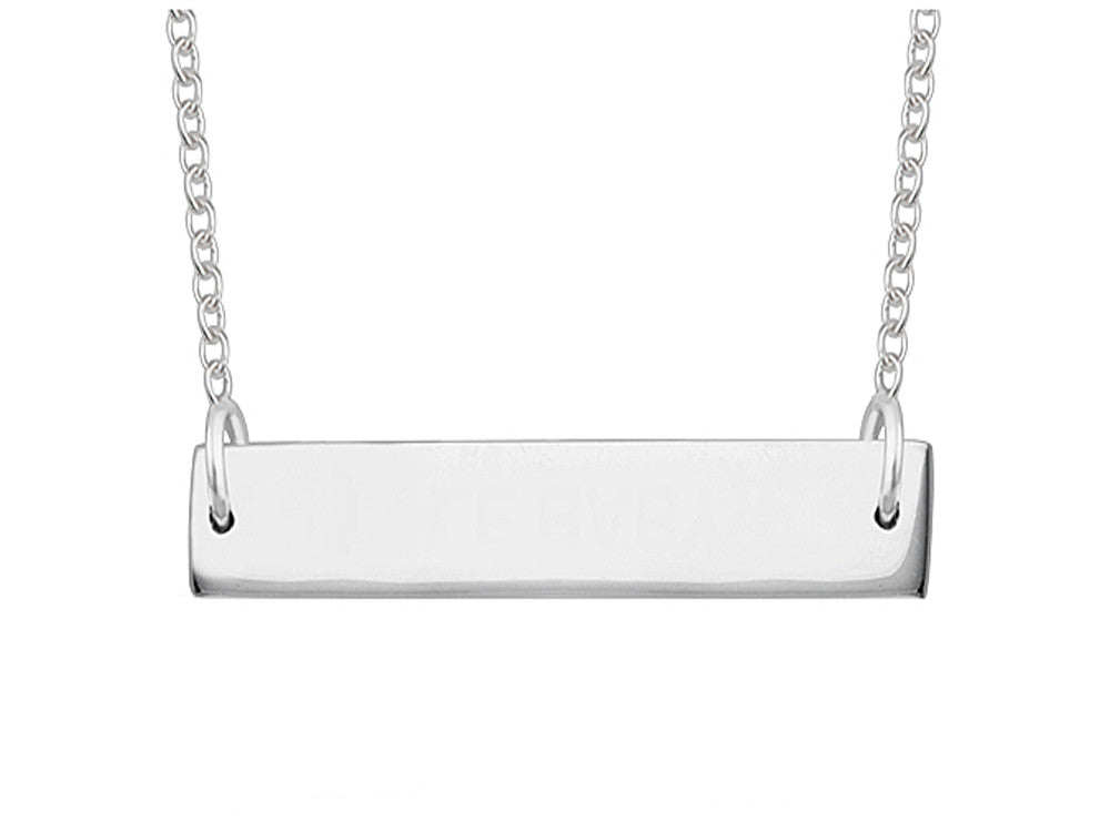 A Sterling Silver Nameplate Necklace - Essentially Silver Jewelry