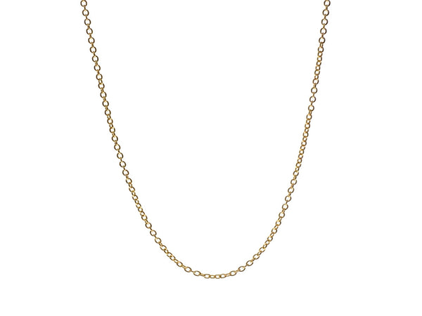 "Gold Plated 1.2/458mm 18"" Sterling Silver Chain - Essentially Silver Jewelry"