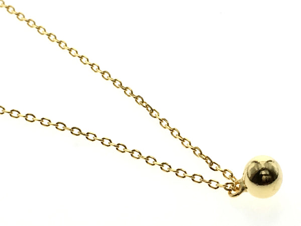 Gold Plated 18K Ball Sterling Silver Necklace