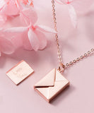 Rose Gold Plated Love Letter Envelope Necklace