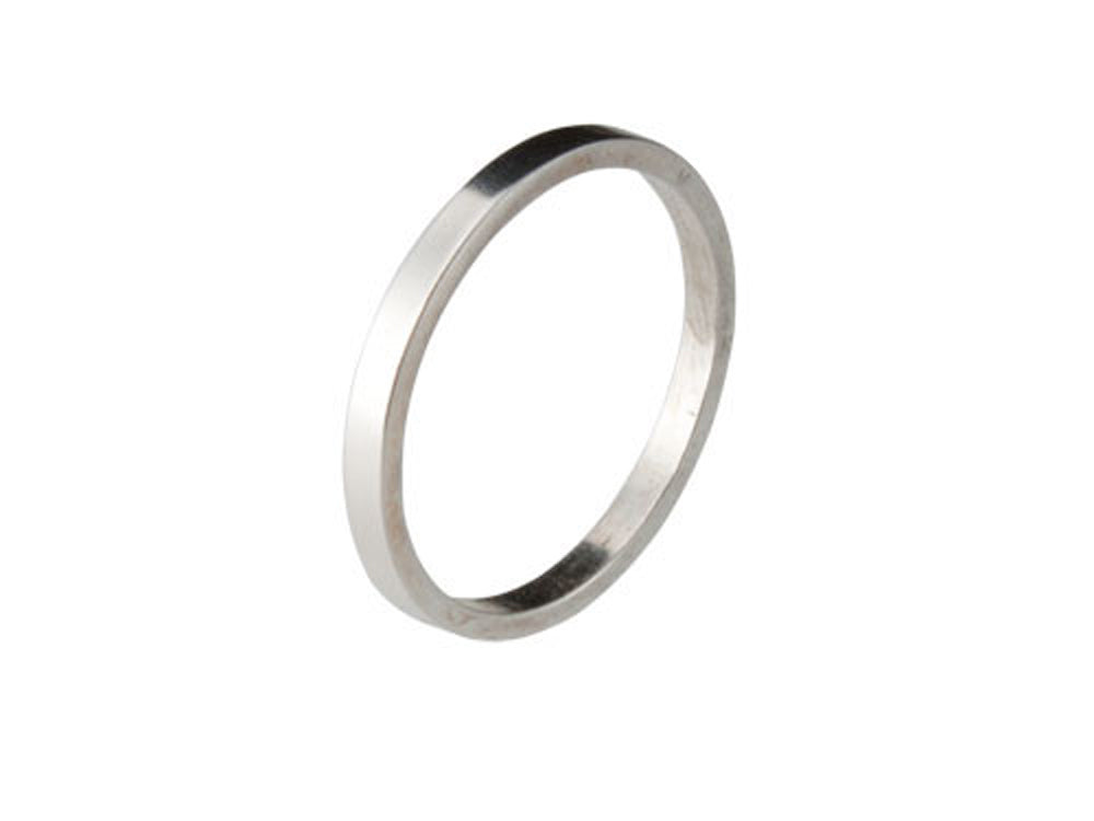Plain 2mm Sterling Silver Band