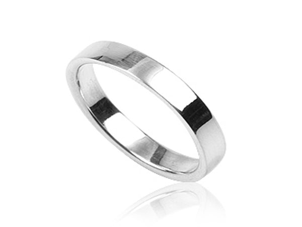 Plain 3mm Sterling Silver Band