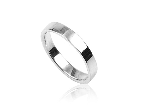 Plain 4mm Sterling Silver Band