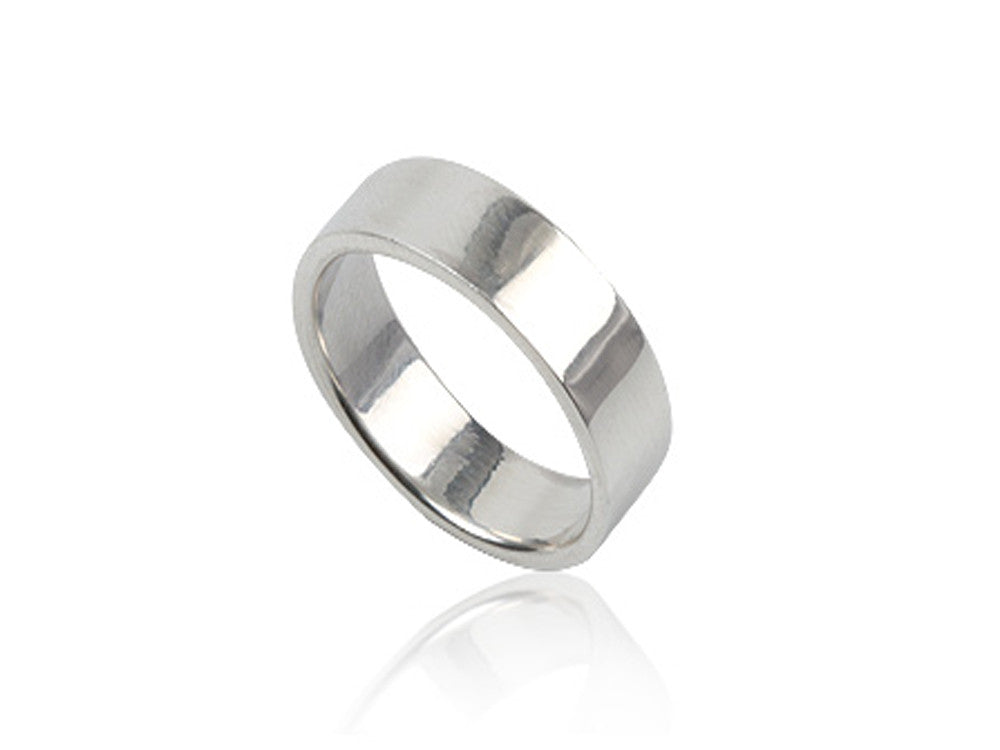 Plain 5mm Sterling Silver Band