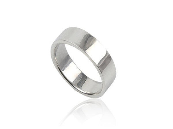 Plain 6mm Sterling Silver Band