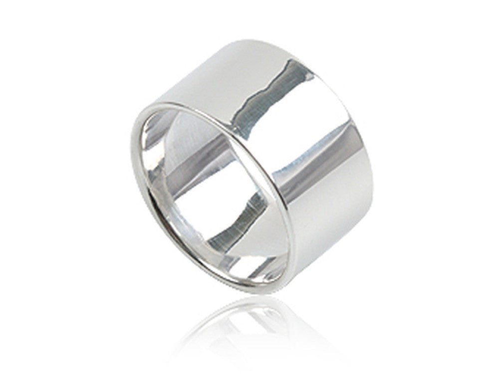 Plain 9mm Sterling Silver Band