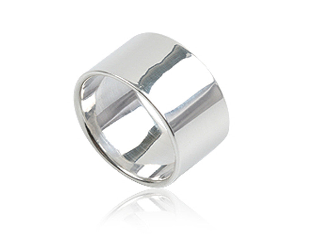 Plain 10mm Sterling Silver Band - Essentially Silver Jewelry