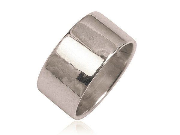 Plain 12mm Sterling Silver Band