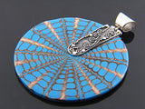 Nautilus Blue Shell .925 Sterling Silver Pendant - Essentially Silver Jewelry