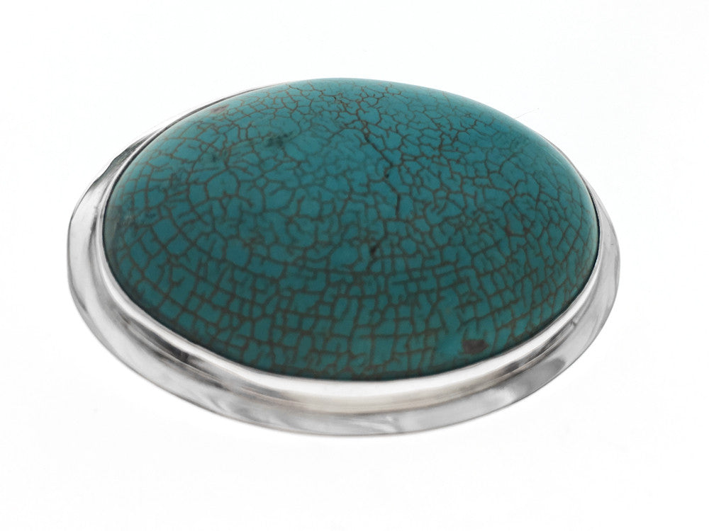 Turquoise Green Slide .925 Sterling Silver Pendant - Essentially Silver Jewelry