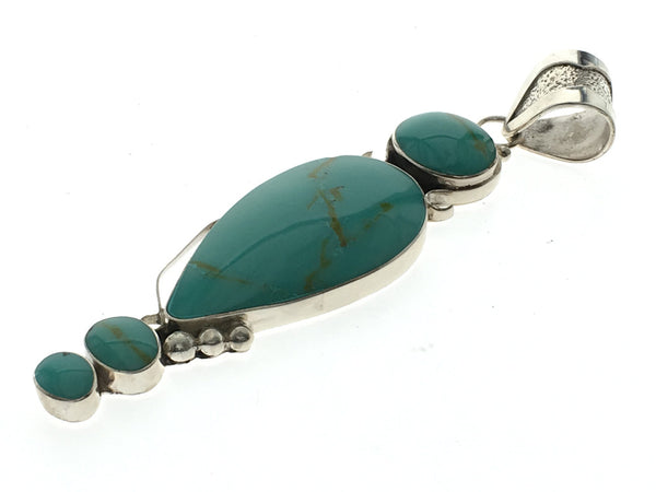 Turquoise Designer Sterling Silver Pendant