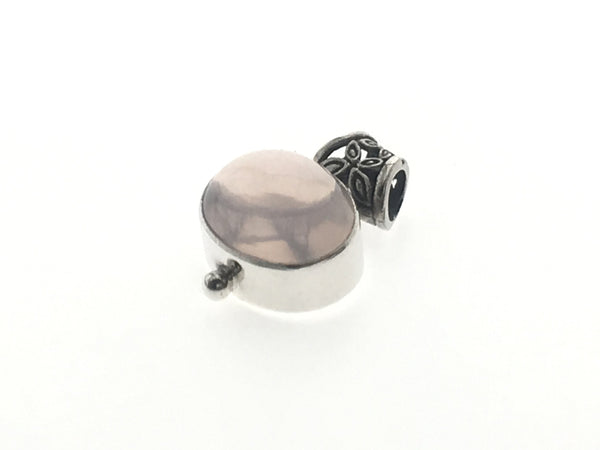 Pink Resin Sterling Silver Pendant