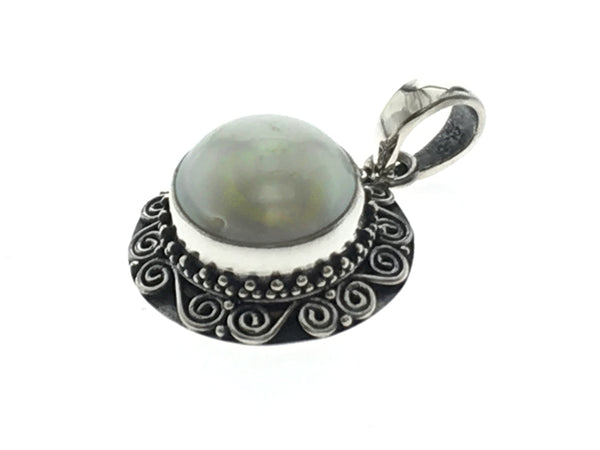 Pearl White Sterling Silver Pendant