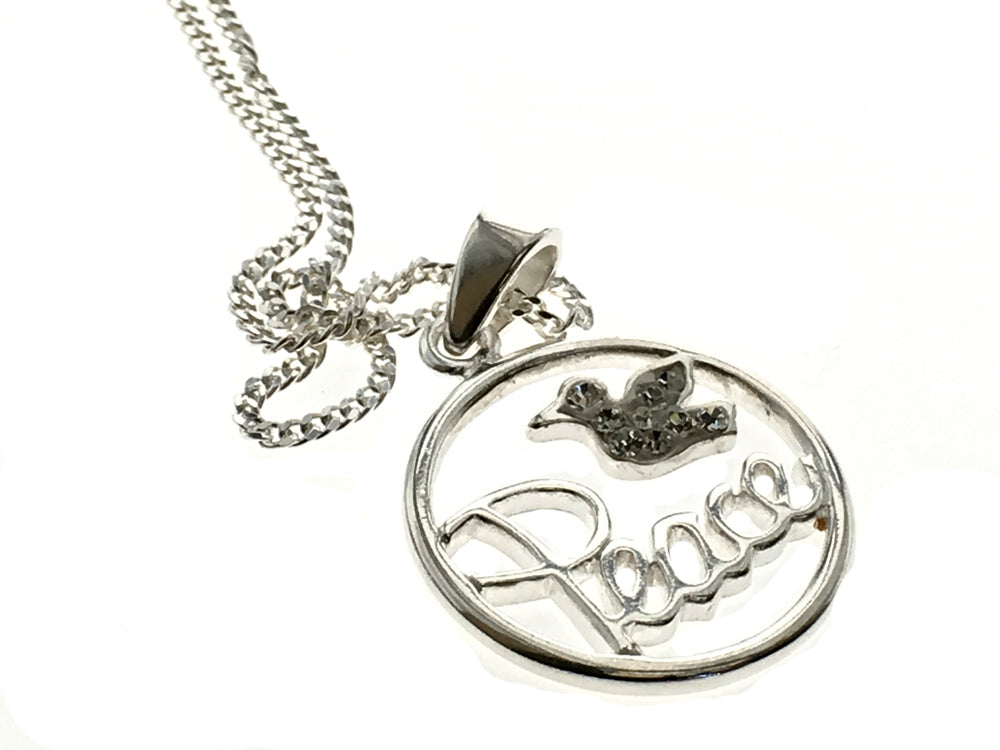 Angel Peace Sterling Silver Necklace