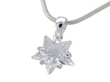 Star Cubic Zirconia Sterling Silver Pendant - Essentially Silver Jewelry