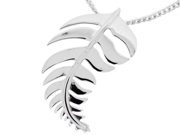 Fern Sterling Silver Pendant - Essentially Silver Jewelry