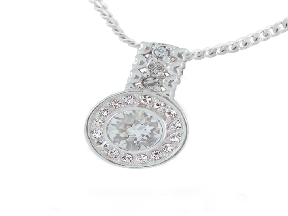 Cubic Zirconia Halogen Pendant set with JP037 & EJP029 - Essentially Silver Jewelry