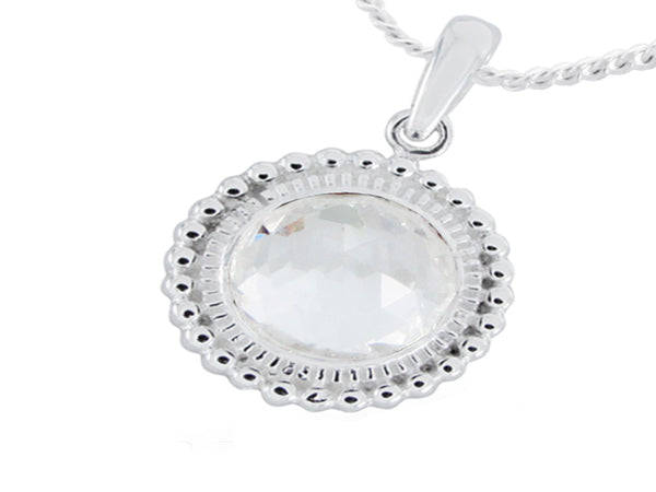Cubic Zirconia .925 Sterling Silver Pendant - Essentially Silver Jewelry