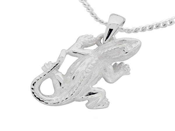 Gecko  Sterling Silver Charm/Pendant - Essentially Silver Jewelry