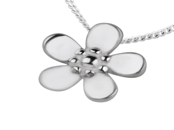 Daisy Sterling Silver Charm/Pendant - Essentially Silver Jewelry