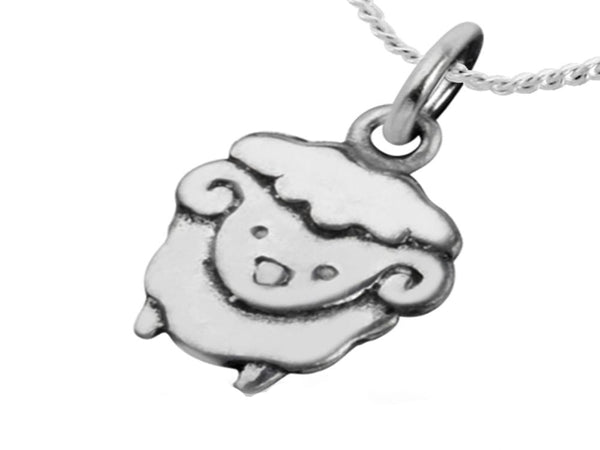 Sheep Charm/Pendant Sterling Silver - Essentially Silver Jewelry
