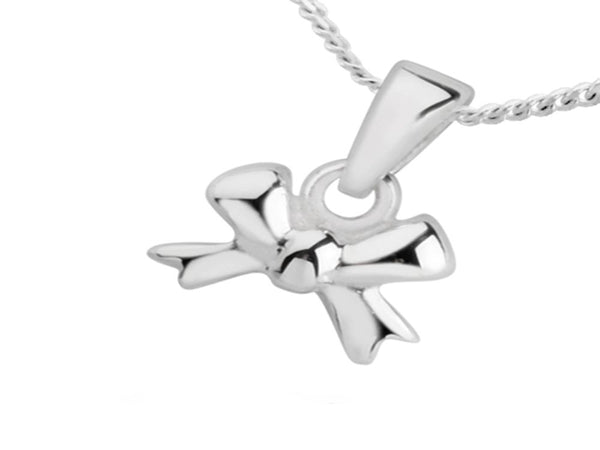 Bow Sterling Silver Charm/Pendant - Essentially Silver Jewelry