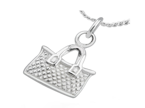 Weaved Basket Sterling Silver Pendant - Essentially Silver Jewelry