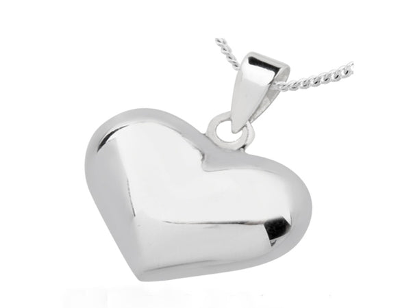 Heart Sterling Silver Pendant - Essentially Silver Jewelry