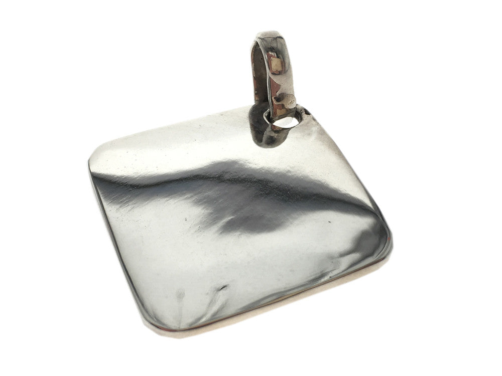 Plain Engraveable .925 Sterling Silver Pendant - Essentially Silver Jewelry