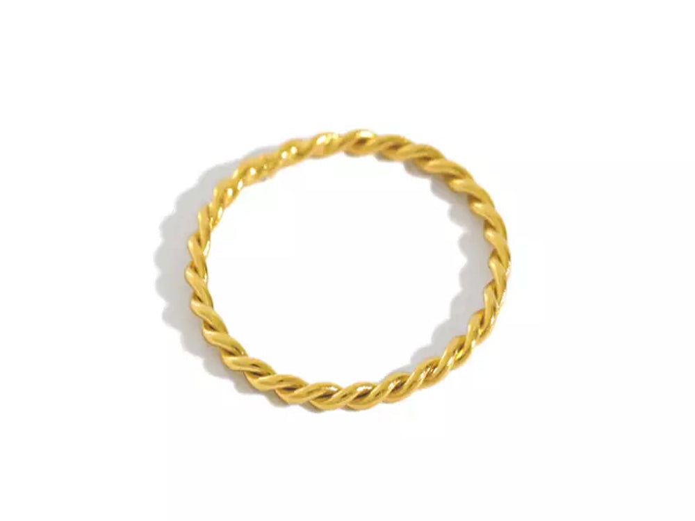 Twisted Gold Plated Sterling Silver Ring