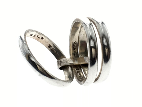 Three Tier Sterling Silver Ring