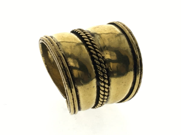 Brass Shield Tapered Ring - Essentially Silver Jewelry