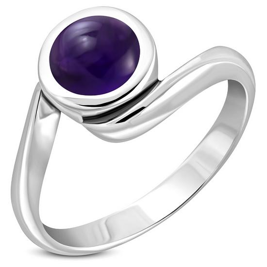 Amethyst Genuine Stone Sterling Silver Ring