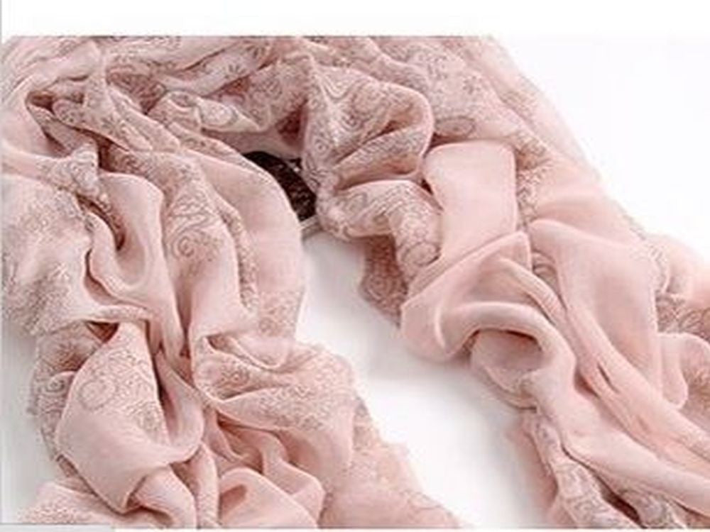 Autumn Totem retro female  cotton scarf pink - Essentially Silver Jewelry