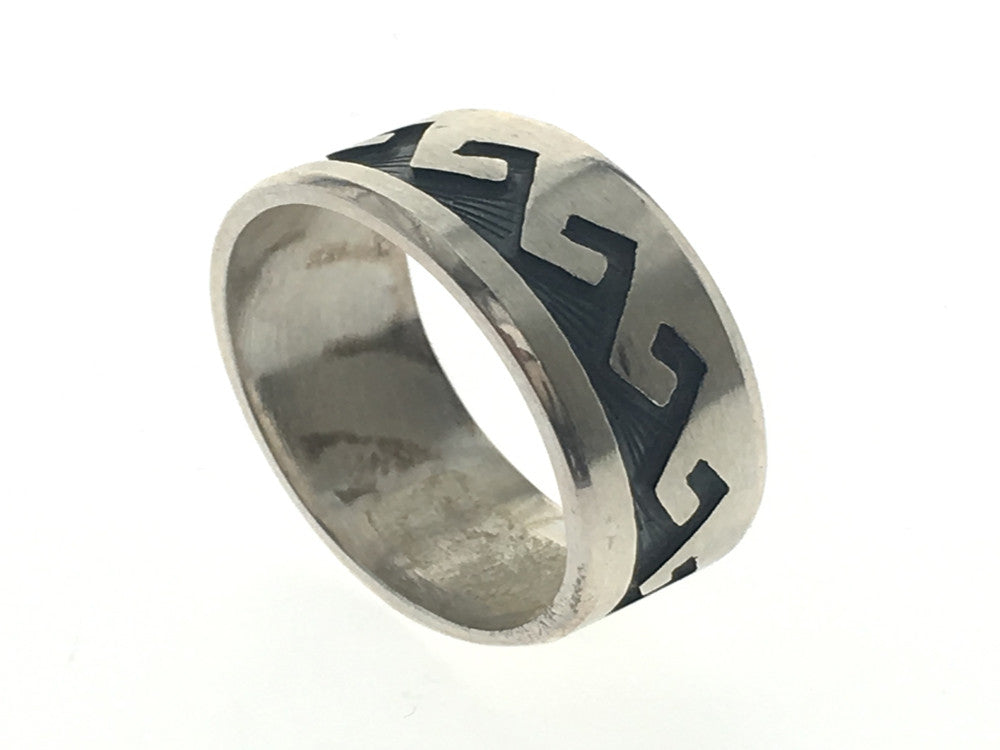 Wave Squares .925 Sterling Silver Ring