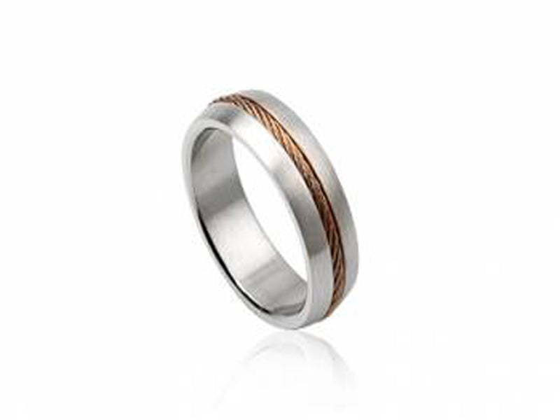 Stainless Steel 7mm Gold Plated Band