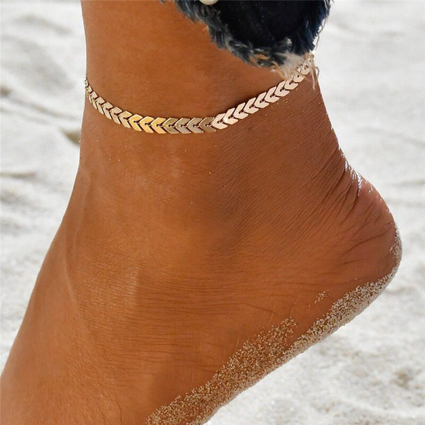 Silver Darted Anklet