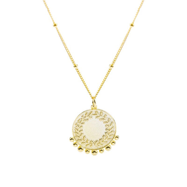 Gold plated sterling silver peace necklace