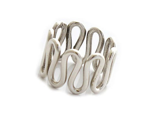 Snake Design .925 Sterling Silver Ring
