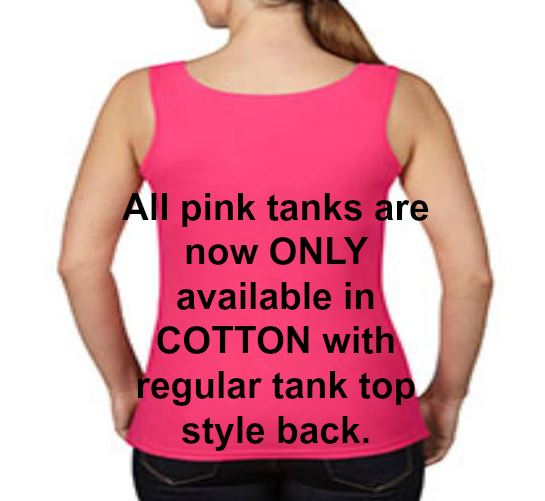 Women's Save 2nd Base! Breast Cancer Awareness Racerback TANK TOP PINK