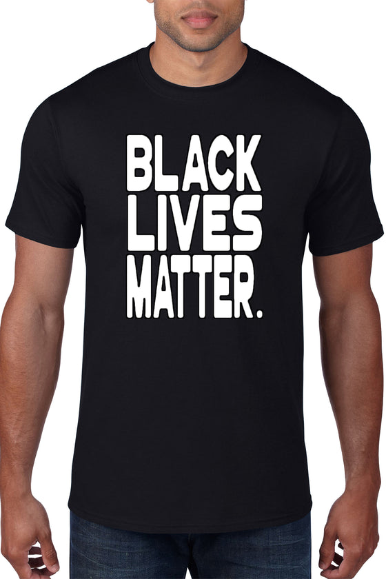 Men's T Shirt Black Lives Matter Short Sleeve Tee White Print