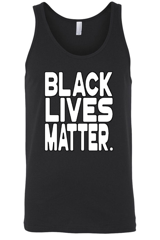 Men's Tank Top Black Lives Matter White Print