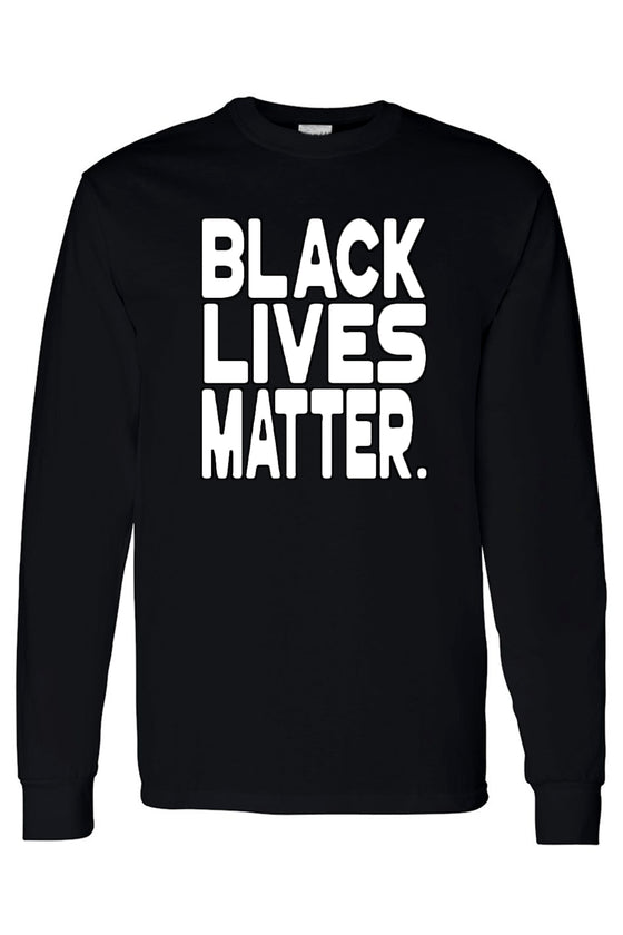 Men's Long Sleeve Shirt Black Lives Matter White Print